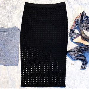 Alexander Wang Circular Hole skirt, black, sz M